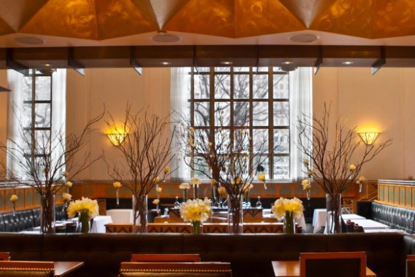 Detail of the dining room of Eleven Madison Park, NY.