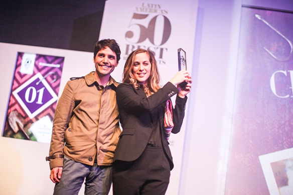 O chef Virgilio Martinez e Pía León, do Central, eleito o melhor da América Latina -Foto Latin America's 50 Best Restaurants